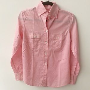 J. Crew Cotton Button Down Light Pink Shirt Sz 0